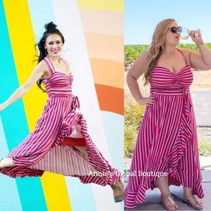 NWT ANTHROPOLOGIE Gabriela Ruffled Maxi Dress